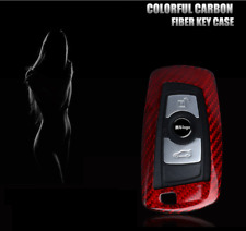 Luxury Red Carbon Fiber Remote Fob Key Case Cover For BMW 1 3 5 6 7 Series X3 M5
