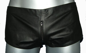 BRAND NEW 100% Real Leather Micro low rise Front zip shorts BEST SELLER!!