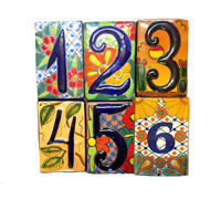 Spanish Tile House Number
