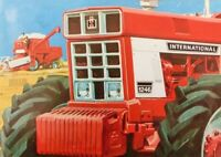 International Harvester Case 1246 XL Tractor Brochure Poster Artists Painting A3