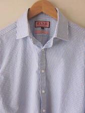 Thomas Pink Striped Regular Long Formal Shirts for Men