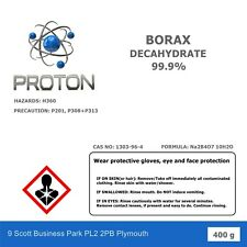 400g BORAX DECAHYDRATE 99.9% PURE Laundry booster,Household Cleaner FREE P&P