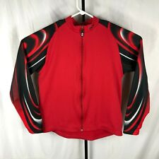 d6aa61605 Louis Garneau LG Mens Small Medium Red Thermal Long Sleeve Jersey Road  Cycling