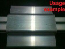 Aluminum T-slot profile blank double panel-mesh retainer 40 series L120mm, 4-set
