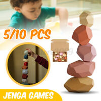 5Pcs / 10PCS Jenga Games Wooden Toy Stone Building Blocks Stacking Creative Kit
