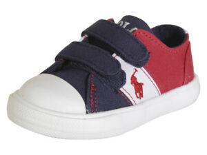 Polo Ralph Lauren Toddler Boy's Dawsyn-EZ Navy/Red/White Sneakers Shoes
