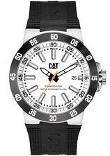 Men's Caterpillar CAT Cosmofit Black Rubber Date White Analog Watch YP16121222