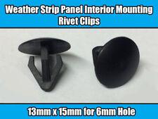 10x Clips For Nissan Mitsubishi Interior Panel Mounting Strip Rivet Plastic New