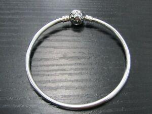 "Pandora Moments 6 3/4"" Sterling Silver Bangle Bracelet"