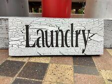 LAUNDRY ROOM sign farmhouse wood farm rustic laundry crackle bath home decor