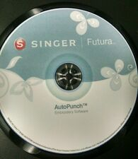 Singer Futura Xl 400,420,500,550,580 & Sesq AutoPunch Software & Bonus