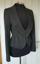 Next grey & black cropped peplum jacket size 10 short riding equestrian riding