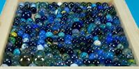 Vintage marbles, blue tones for decoration, art, collecting, or play -lot 3
