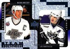 2000-01 Upper Deck Legends #61 Wayne Gretzky, Luc Robitaille