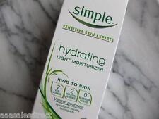 SIMPLE Hydrating Light Moisturizer Sensitive Vitamin B5 Lotion Cream 12hrs