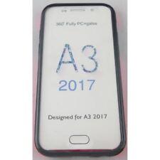 coque samsung galaxy A3 2017 intégrale transparente et rose avant arrière