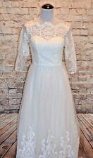Modcloth Sophisticated Ceremony Dress White 2  $200 Chi Chi wedding maxi