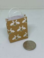 Handmade 1:12th Scale Dolls House Miniature Accessory Gift Bag Easter Rabbits