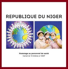 NIGER 2020 - BOOKLET CARNET - JOINT ISSUE - PANDEMIC - TRIBUTE HEALTHCARE NURSE