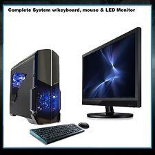 AMD Quad Core Gaming PC Computer New Fast 2TB Custom Built Desktop System