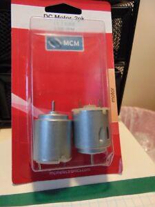 (2 PK) MCM 287-17002 33AC0219 DC MOTOR 1.5-4.5VDC 6800 RPM @ 3VDC NO LOAD (2 PK)