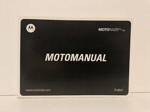 Motorola Razr V3a Motomanual Instruction Booklet