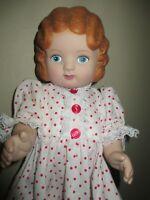 "Daisy Kingdom Doll Vinyl Red Hair 18"" #4034-12110 Clean"