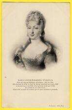 cpa Gravure Dessin Portrait de MARIE LOUISE ELISABETH D' ORLÉANS French Royalty