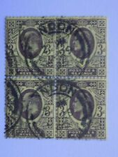 (1) used Great Britain Block of four stamps off paper-Scott # 132