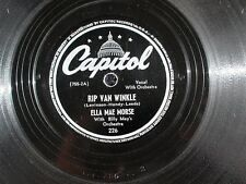 Ella Mae Morse Billy May's Orch Capitol 78 Record Buzz Me Rip Van Winkle 755-2A