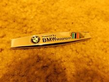 BMW POWERED BY BMW MOTORSPORT M3 M5 3 5 7 SERIES DASH FENDER TRUNK PLAQUE EMBLEM