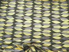 Sanderson Curtain / Upholstery Fabric MIRO 3.0m Cut Velvet Fig/Yellow Laszlo Col