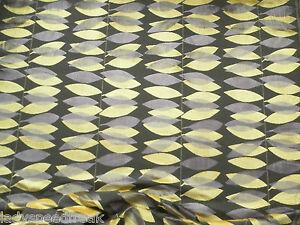 Sanderson Curtain / Upholstery Fabric MIRO 3.0m Cut Velvet Fig/Yellow Laszlo Col