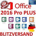 Microsoft OFFICE 2016 Professional PLUS ORIGINAL Vollversion PRO PLUS 32/64 Bit