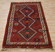 Aztec rug Kurdish kilim rug rectangle wool handmade home design area rugs 5X8ft