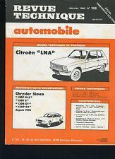 (44B)REVUE TECHNIQUE AUTOMOBILE CITROEN LNA / CHRYSLER 1307-1308-1309