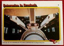 STAR TREK - MOVIE - Card #07 - ENTERPRISE IN DRYDOCK - TOPPS 1979
