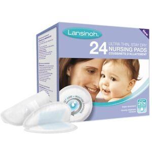 Lansinoh Disposable Nursing Pads Ultra-Thin & Stay Dry Breastfeeding Patch 24Pk