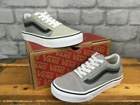 VANS OLD SKOOL SUEDE CANVAS DRIZZLE TRAINERS CHILDRENS BOYS T