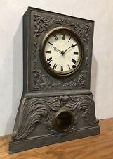 American Clock Company Iron Front Mantel Shelf Table Clock