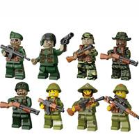 Militär Vietnam Krieg Soldat Waffen Mini Figur Ostern Geschenke  Kinder  8PCS