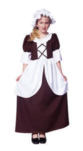 Pilgrim Girls Costume Size Medium (8-10) Dress and Bonnet