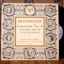 "Walter Goeher Mewton Wood 10"" LP MMS Beethoven Concerto No. 4 deep groove VG+"
