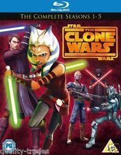 ❏ Star Wars Clone Wars Series 1 - 5 Blu Ray Complete Collection Seasons ❏ 2 3 4