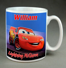 LIGHTNING McQUEEN -DISNEY CARS - PERSONALISED MUG - ANY NAME - NEW