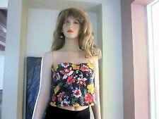 girls women strapless sleeveless sequins shirt top tank colorful- Black XL GLO