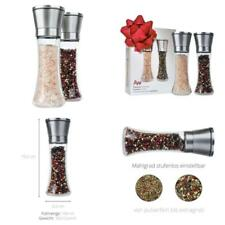Figg Design Salt and Pepper Mill (2er-set) with Adjustable Ceramic Grinder