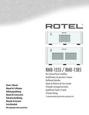 Rotel RMB-1585 Amplifier Owners Instruction Manual