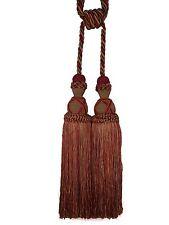 "Belagio Decorative Drapery Tieback RASPERRY RED Camel 11.5"" Tassel 36"" Spread"