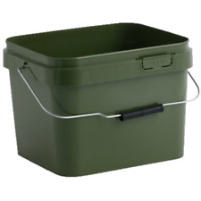 17 Litre Olive Green Square Plastic Buckets complete with Lid